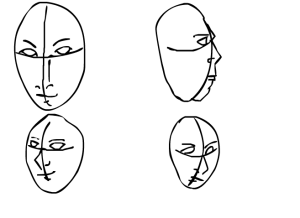 4 faces of human experience by Jamaal R. James for James Creative Arts & Entertainment Company for Adult Comics