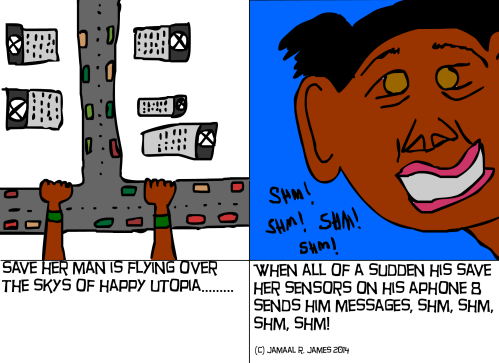 Save Her Man comic strip created by Jamaal R. James for James Creative Arts And Entertainment Company.