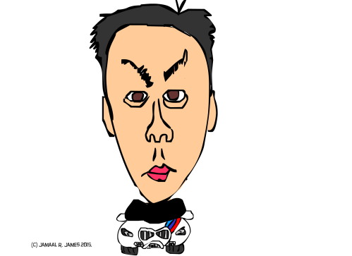 Bmw Caricature Art by Cartoonist Jamaal R. James for James Creative Arts and Entertainment Company.