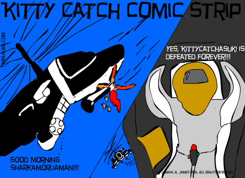 Kitty Catch Comic Strip created by Cartoonist Jamaal R. James for James Creative Arts And Entertainment company. indie comic, cartoon, watch cartoons online.