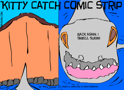Kitty Catch Comic Strip by Cartoonist Jamaal R. James for James Creative Arts And Entertainment Company. illustrator indie comic